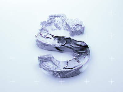Mercurys letter white blue cold abstract xparticles cinema 4d typography
