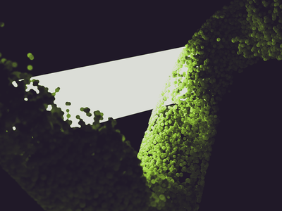 Sage particles green xparticles abstract cinema 4d