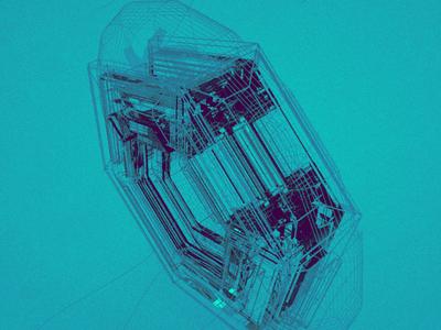 Octane Hex macbook pro abstract blue shape hex octane demo cinema 4d