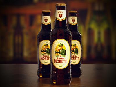 Birra Moretti octane cinema 4d bottle beer