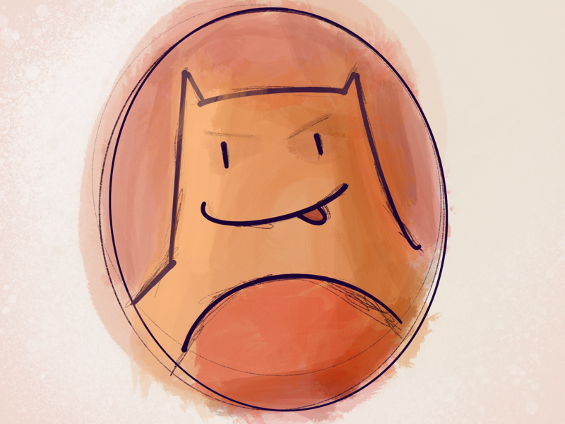 Bat Sloth Man bat orange sketch ipad procreate character illustration