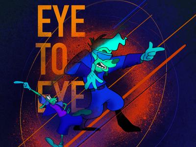 Eye to eye. illustraion goof powerline goofy movie procreate
