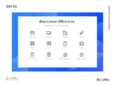 Blue Linera Office Icon