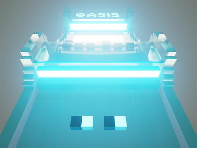 Crystal Keycade arcade fanart perspective voxel pixelart magicavoxel