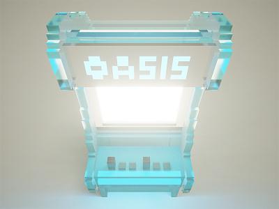 Crystal Keycade P1 & P1 voxelart pixel voxel pixelart perspective magicavoxel fanart arcade