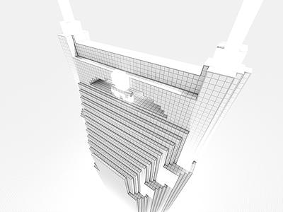 Batman building wireframe nashville voxel magicavoxel 8bit