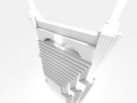 Batman building wireframe