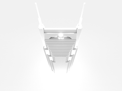 Batman building front nashville voxel magicavoxel 8bit
