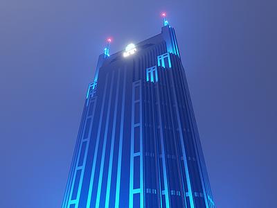 Batman building nashville voxel magicavoxel 8bit