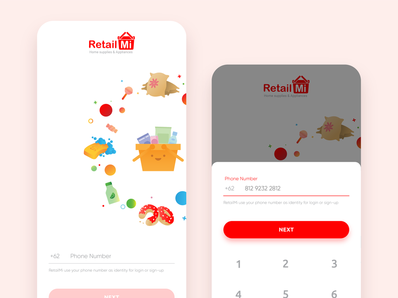 Sign Up Screen -  Retail App