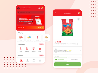 Home Page Retail App