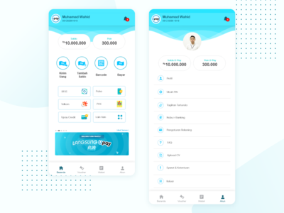 E Wallet Home Page