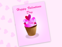 Postcard for Happy Valentines Day