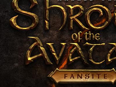 Shroud of the Avatar Fansite Logo fantasy text logo sota