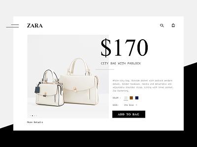 Zara black zara minimal pastel swiss bag shopping product details details page