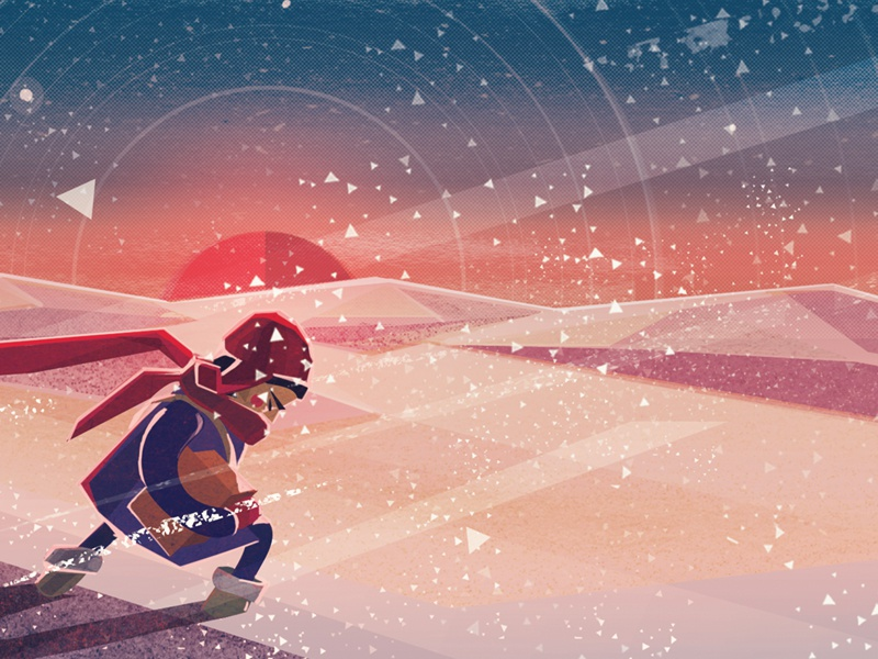 1ong Way Home illustration snow boy winter