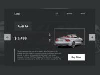 Web design for Car shop