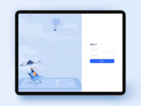 Login page & Illustration