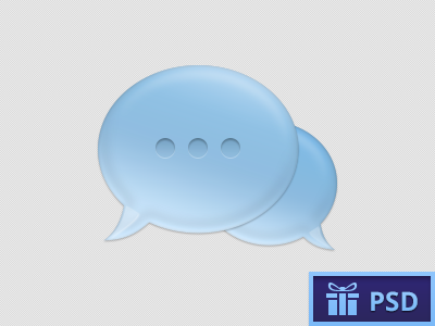 Chat Bubble blue icon chat vector bubble messages psd freebie free attempt :)