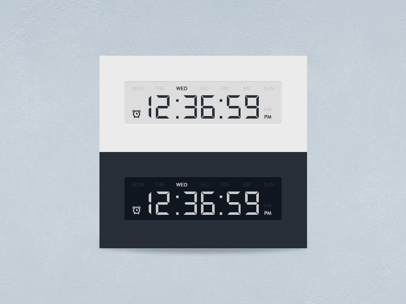 [Freebie] Timer white blue widget timer clock digital electronic psddd psd free
