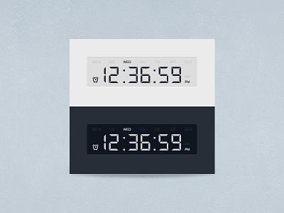 [Freebie] Timer white blue widget timer clock digital electronic psddd psd free