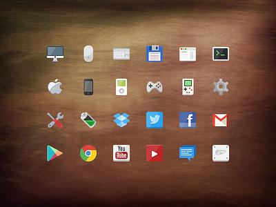 @2x Flat icon set [PSD] flat iconset freebie free psd layered apple psddd
