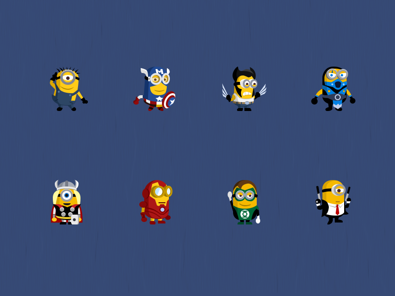 2x Minion Super Heroes By Epic Coders