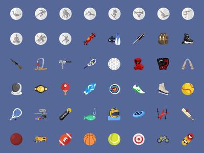 @2xSport Flat Icons