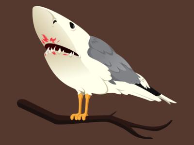 @2x Shark Bird T-Shirt