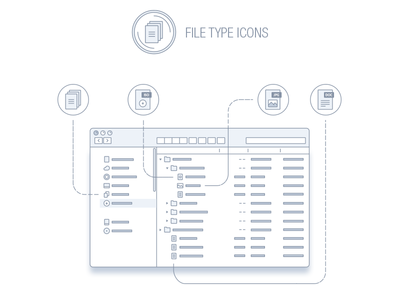 File types and documents icon pack