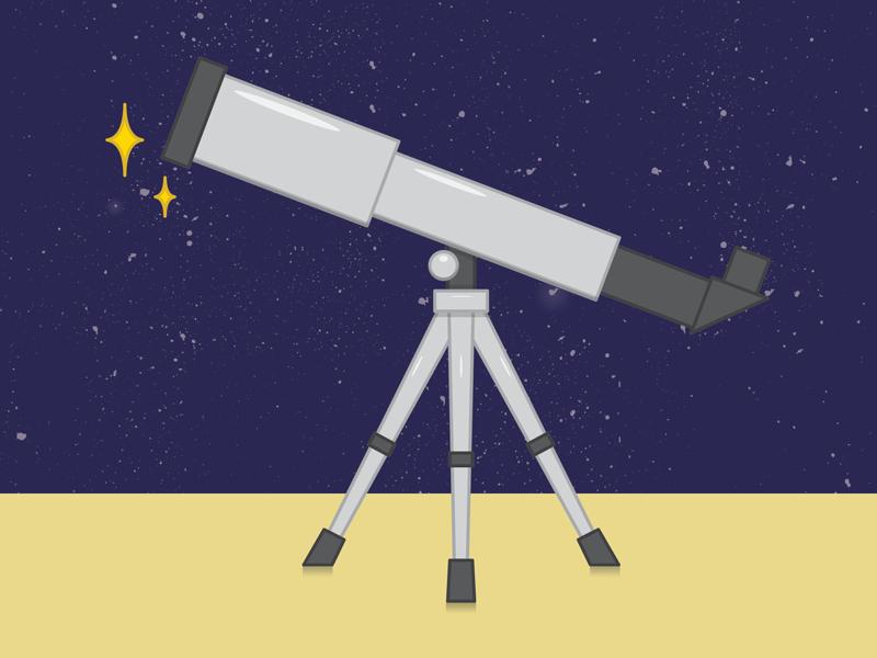 Картинка телескоп для детей