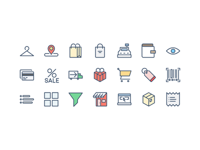 Shopping Icons and e-commerce free icons vector free psd freebie free icons e-commerce shopping