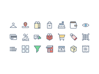 Shopping Icons and e-commerce free icons