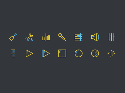 Sound editing icons vector free ai free psd freebie radio audio sound icons