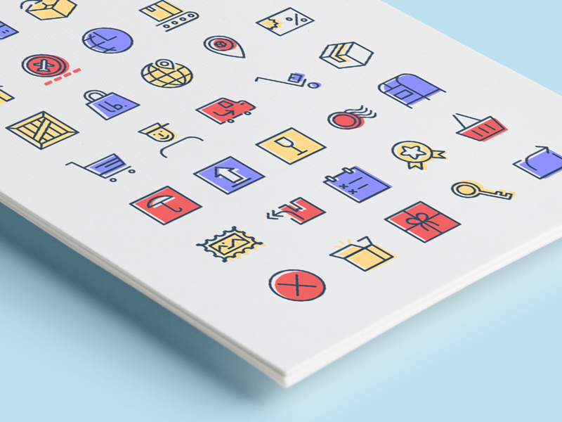 Freebie: Checkout & Delivery Icons tympanus codrops packaging postage mail checkout delivery freebie icons