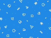 Icons pattern tileable