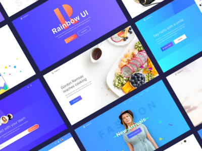 Rainbow UI kit sneak peak