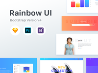 Rainbow UI kit with Bootstrap 4 theme