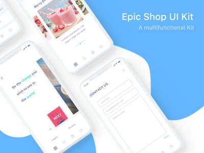 iPhone X Epic Shop UI