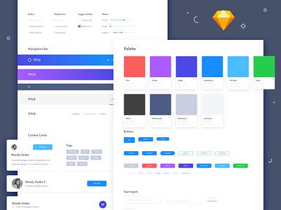 "Creative elements ""Sketch symbols"" kit forms icons modals colors download sample freebie symbols sketchapp ui kit elements creative"