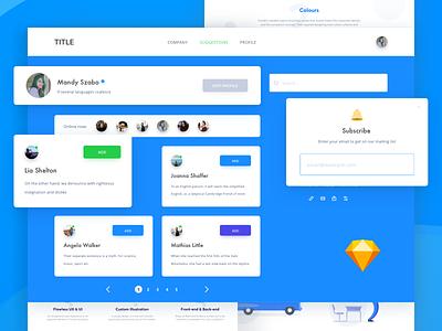 Sketch symbols kit free elements forms avatars buttons modals freebie download components sketch kit symbols