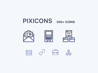 Over 300 icons set (pixicons)