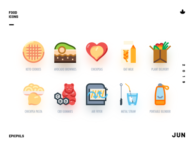 More organic groceries (10 icons)