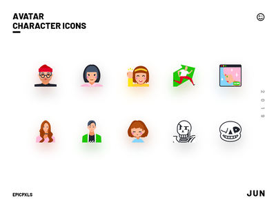 Avatar Character Icons