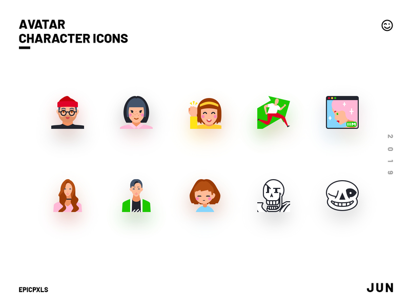 Avatar Character Icons kol kaizen person profile boy character guy woman lady girl webtoon frisk sans papyrus influencer icons undertale millennial