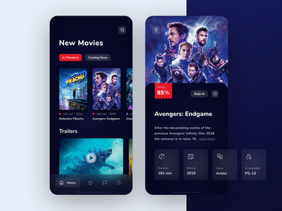 Movie Rankings App Design Concept