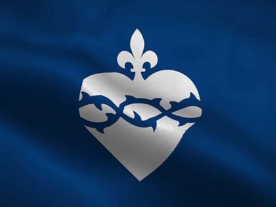 Lys de Coeur branding royal ave maria jesus france catholic logo medieval