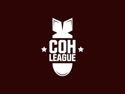 COH League (Company of Heroes 2) logo concept esports esport company of heroes branding logo gaming