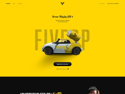 Five RP website gtav gta5 gta altv roleplay branding gaming