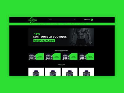 Goliatesk Nutrition website proteins branding fitness ecommerce
